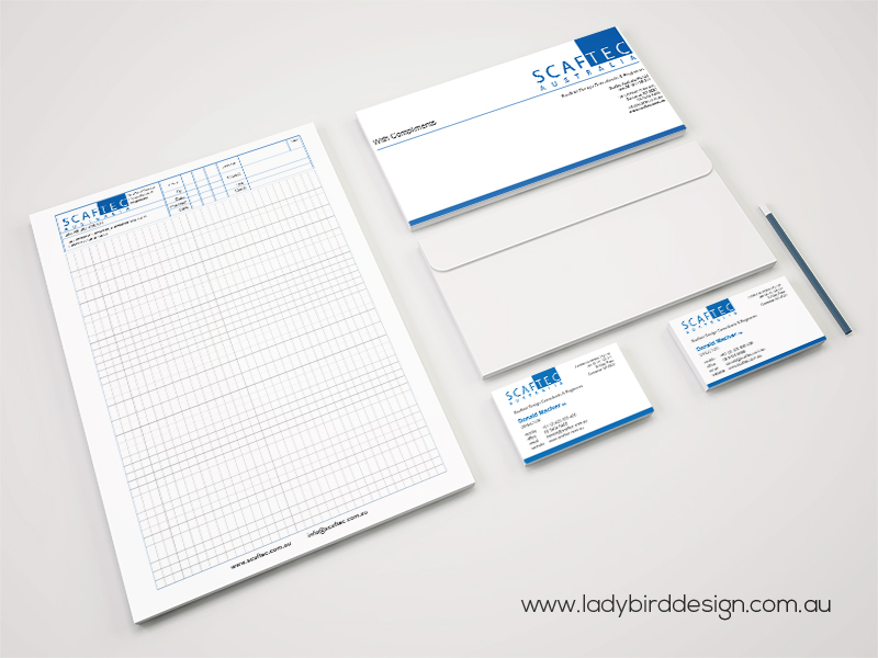 Business stationery printing letterhead envelope commercial construction Joondalup perth