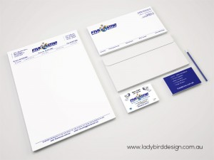 Business stationery printing letterhead envelope security alarms Joondalup perth