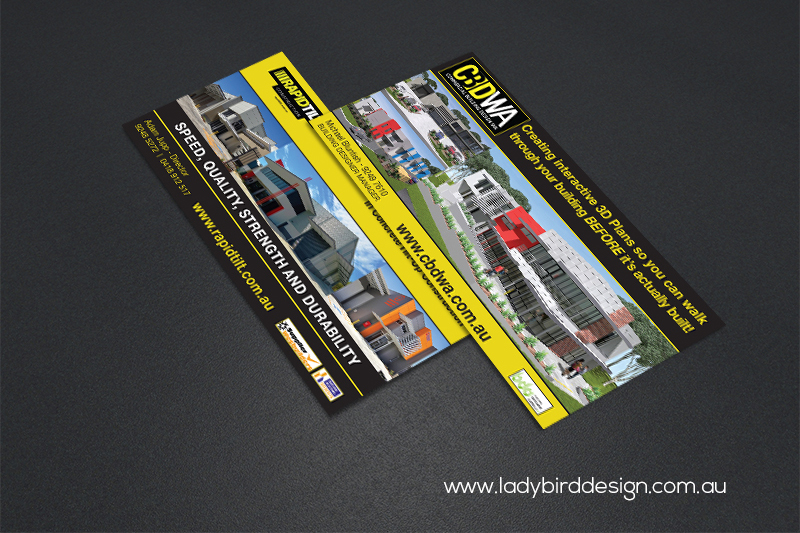 DL flyer brochure building construction industrial design print marketing