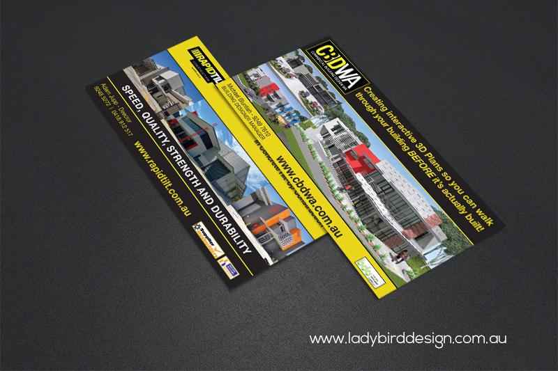 DL flyer brochure building construction industrial design print marketing