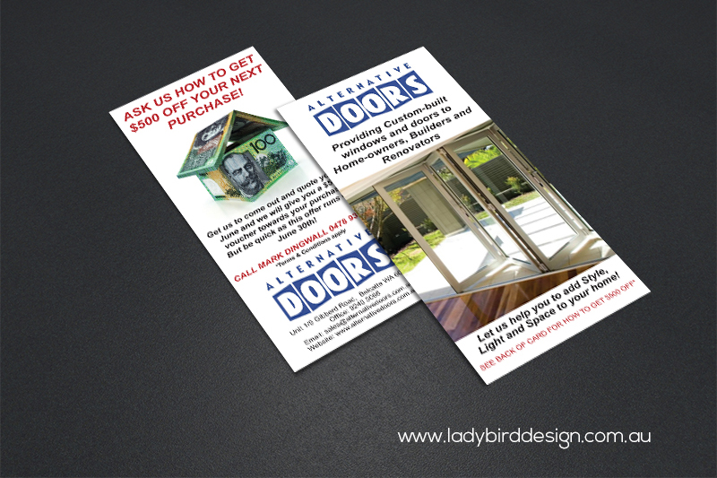 DL flyer brochure doors home renovation corporate design print marketing
