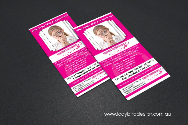 DL flyer leaflet conveyancing real estate