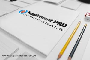 Logo branding graphic design health supplements retail