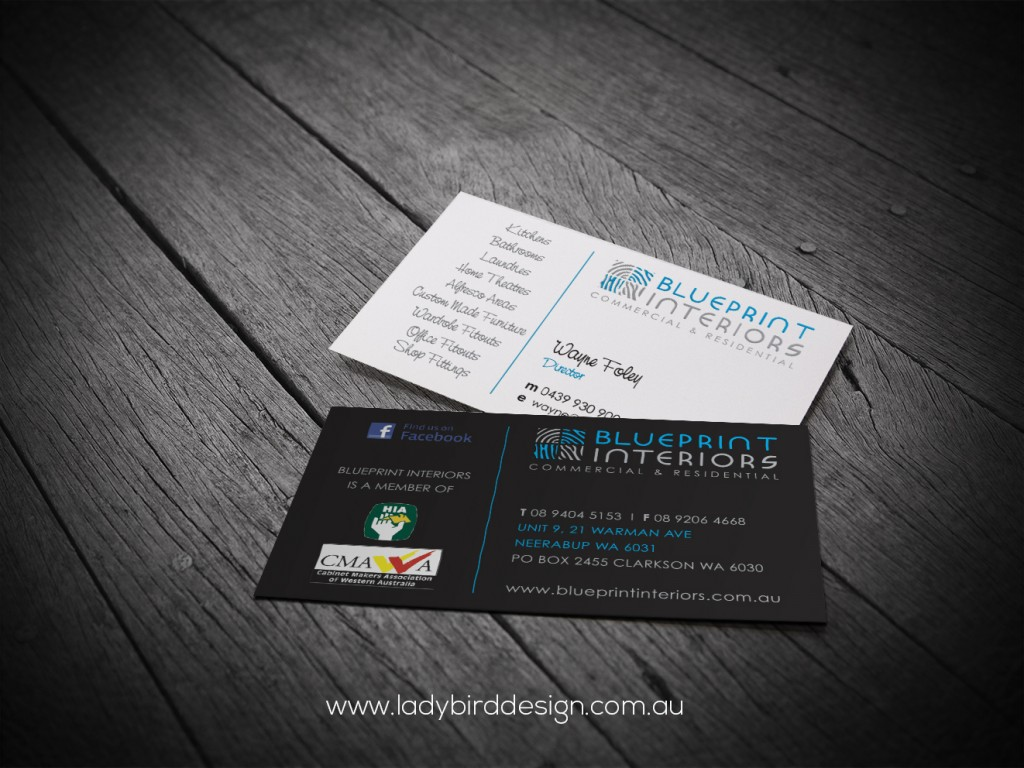 Matt Finish Business Cards - Blueprint Interiors