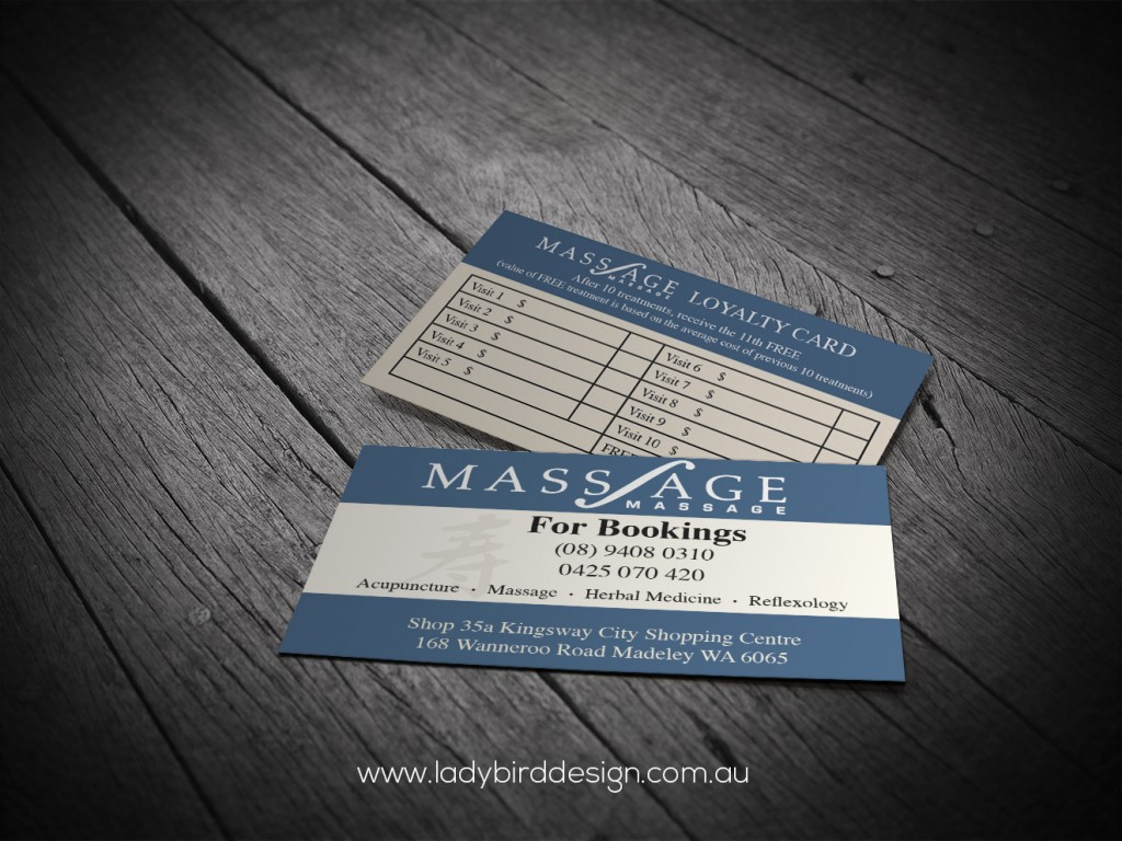 Loyalty Business Cards Mass-Age Massage