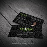 Matt Finish Business Cards - Mink Settlements