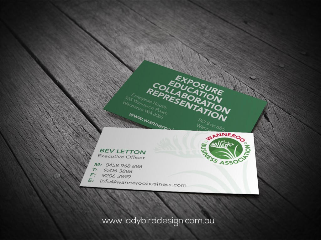 Business cards ladybird design print marketing gloss finish business cards wanneroo business association magicingreecefo Image collections