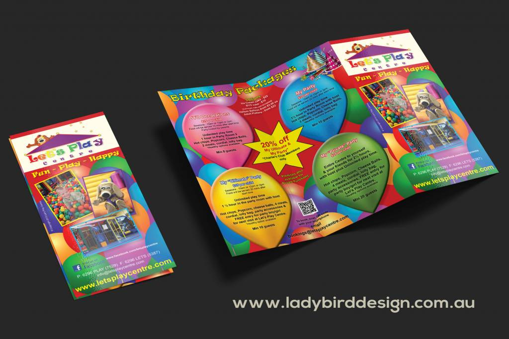 play games daycare playground trifold brochure perth