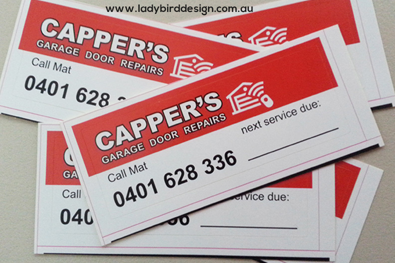 stickers labels service garage doors industrial Perth