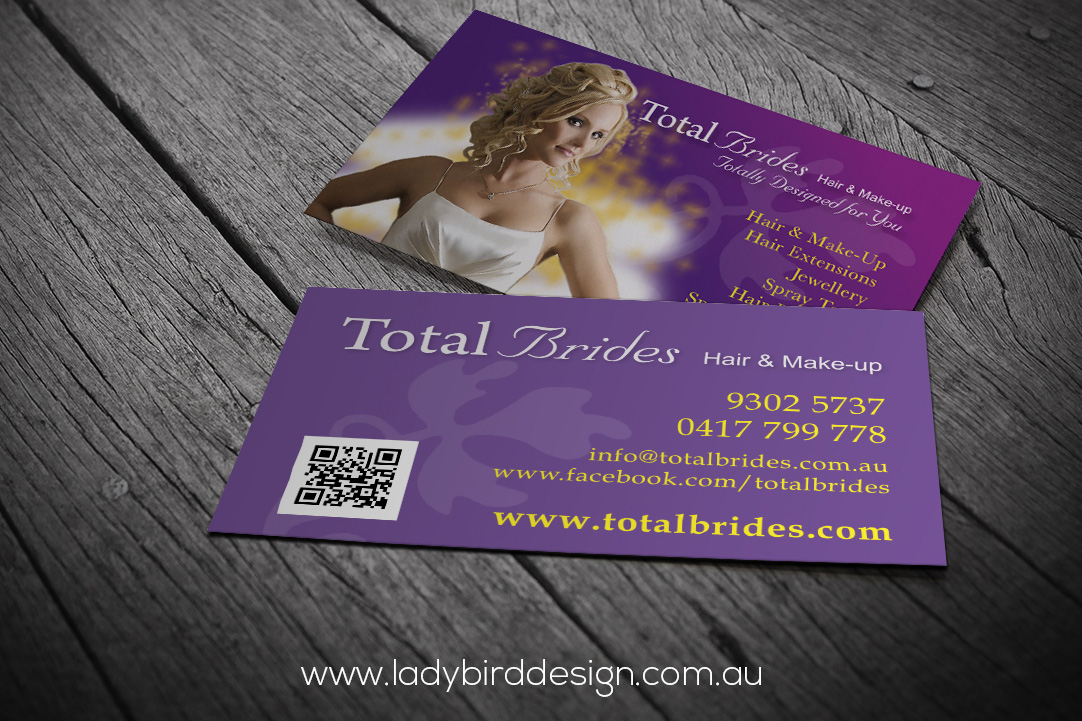 business card bridal wedding makeup hair beauty joondalup perth