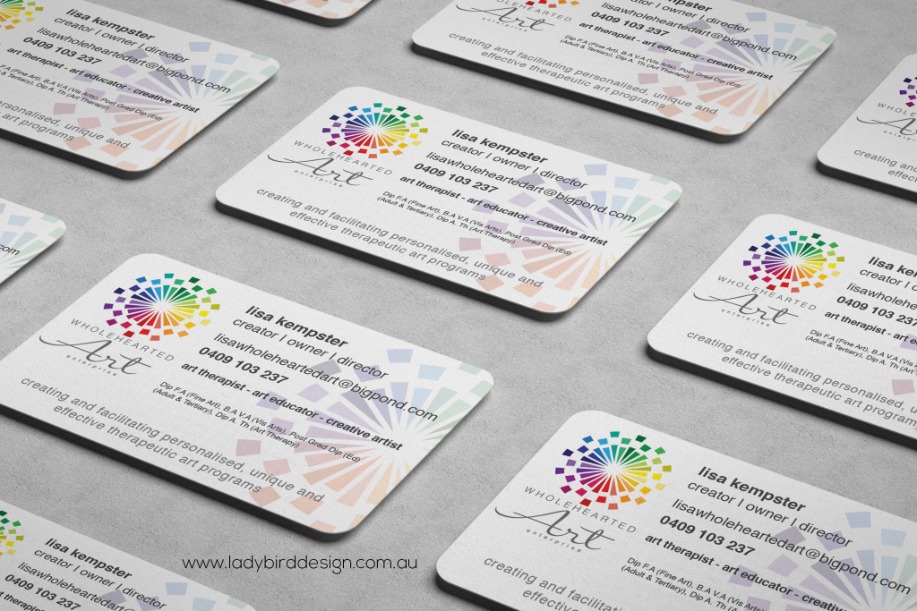 Art education therapist business cards perth
