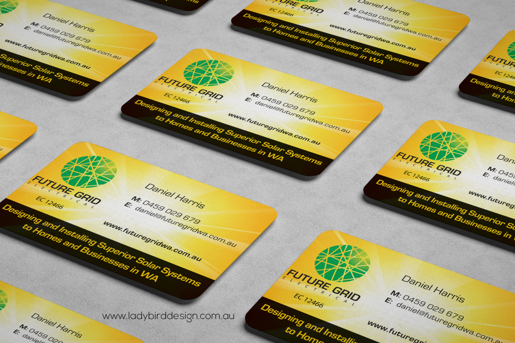 Electrician solar business cards perth