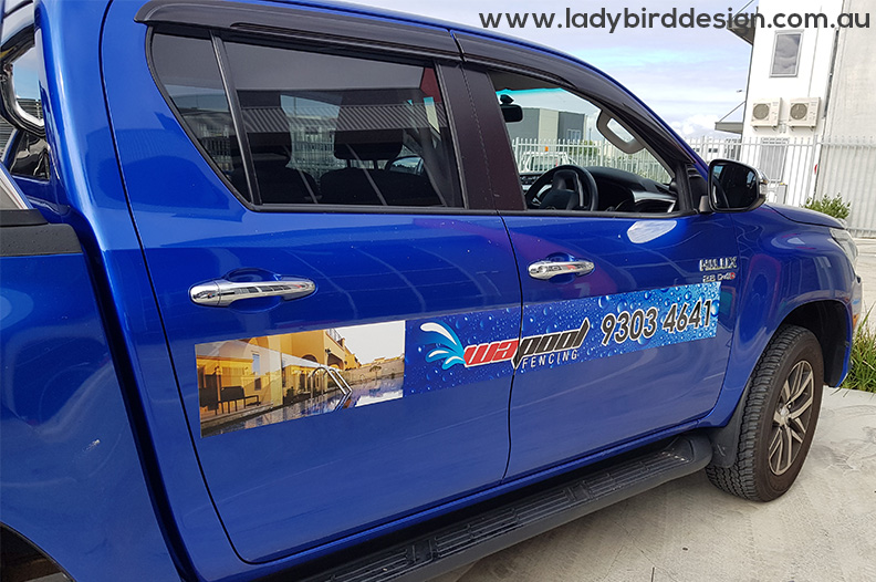 car magnet ute tradie garden pool graphic design joondalup
