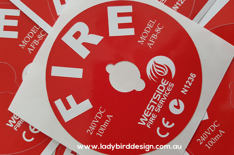 Sticker label tag fire safety perth