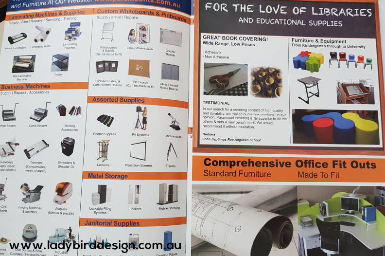 catalogue booklet retail stationery graphic design perth