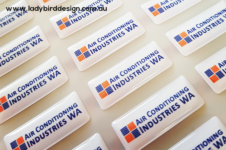 dome stickers labels perth air conditioning electrician graphic design