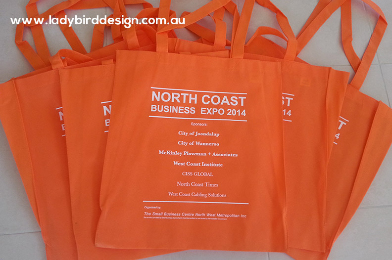 expo seminar tote bags branded graphic design joondalup