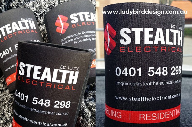 promo gear stubby holders branded graphic design joondalup