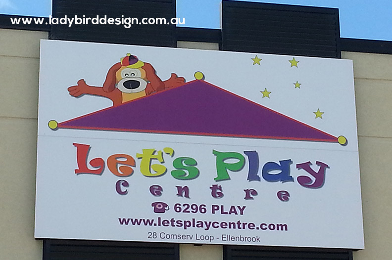 sign banner play centre gym school shop graphic design joondalup
