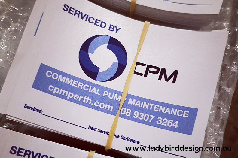 stickers labels tags perth electrician plumber service maintenance