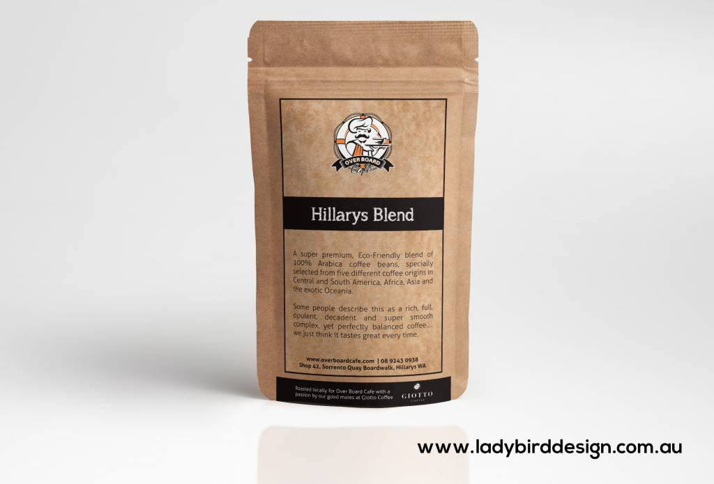 Pouch coffee food packaging graphic design perth