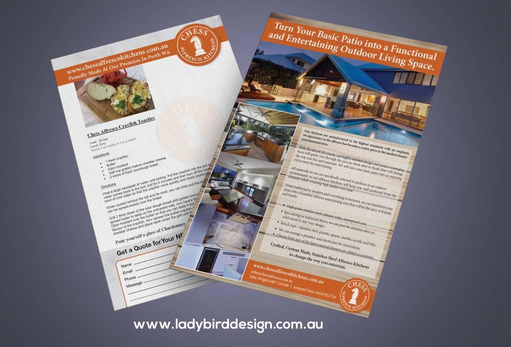 brochure flyer renovation kitchen garden alfresco marketing perth