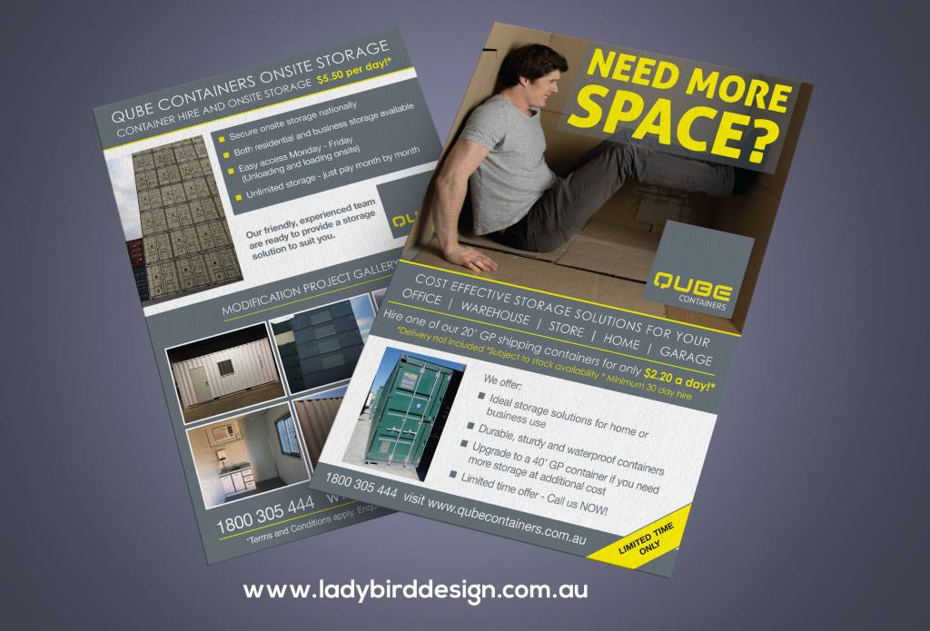 brochure flyer storage warehouse containers marketing perth