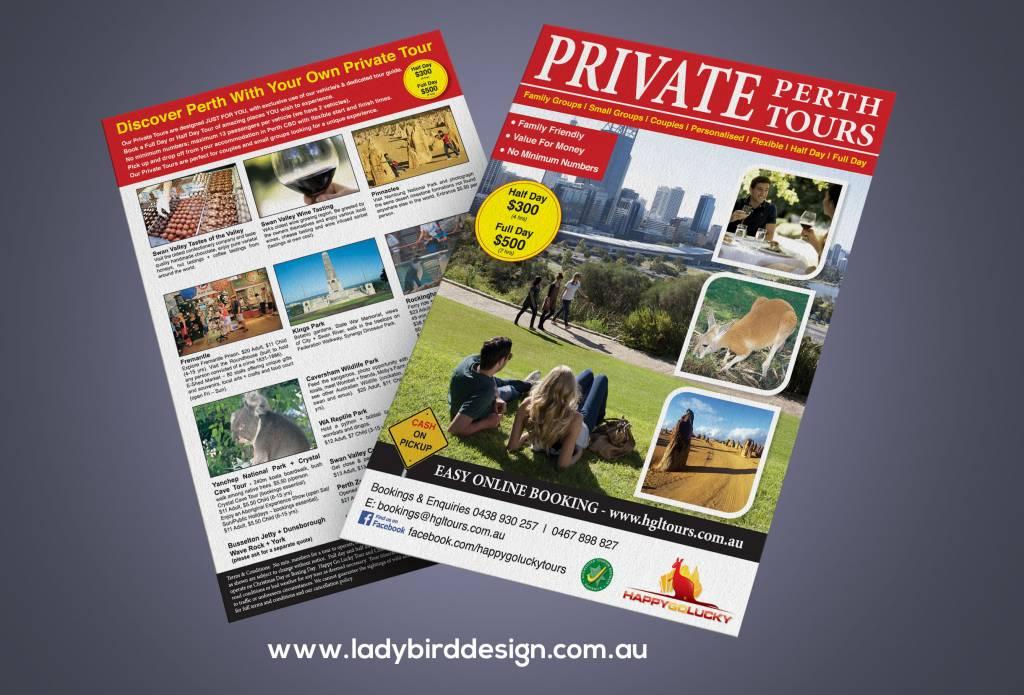 brochure flyer tours perth travel tourism marketing