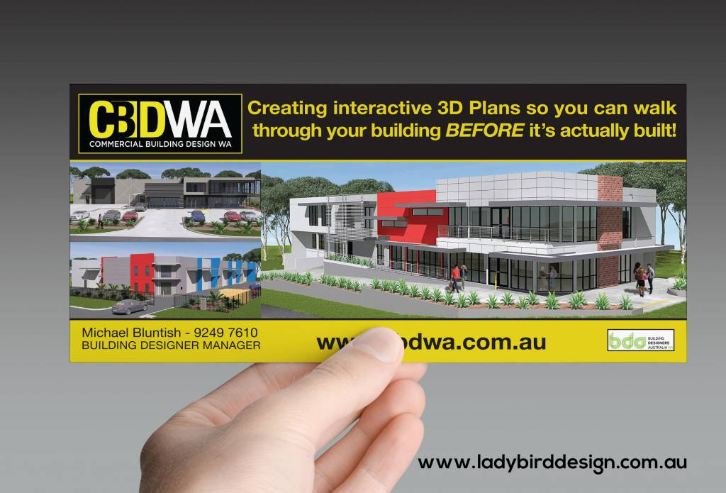 brochure leaflet flyer construction architect marketing perth