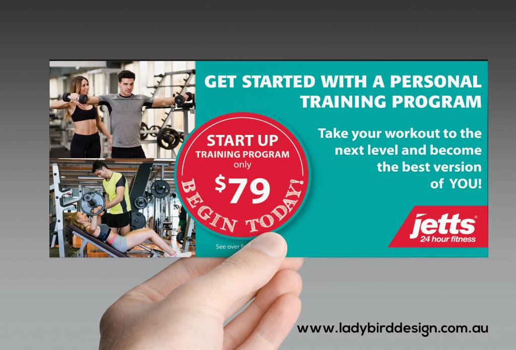 brochure leaflet flyer gym personal trainer marketing perth