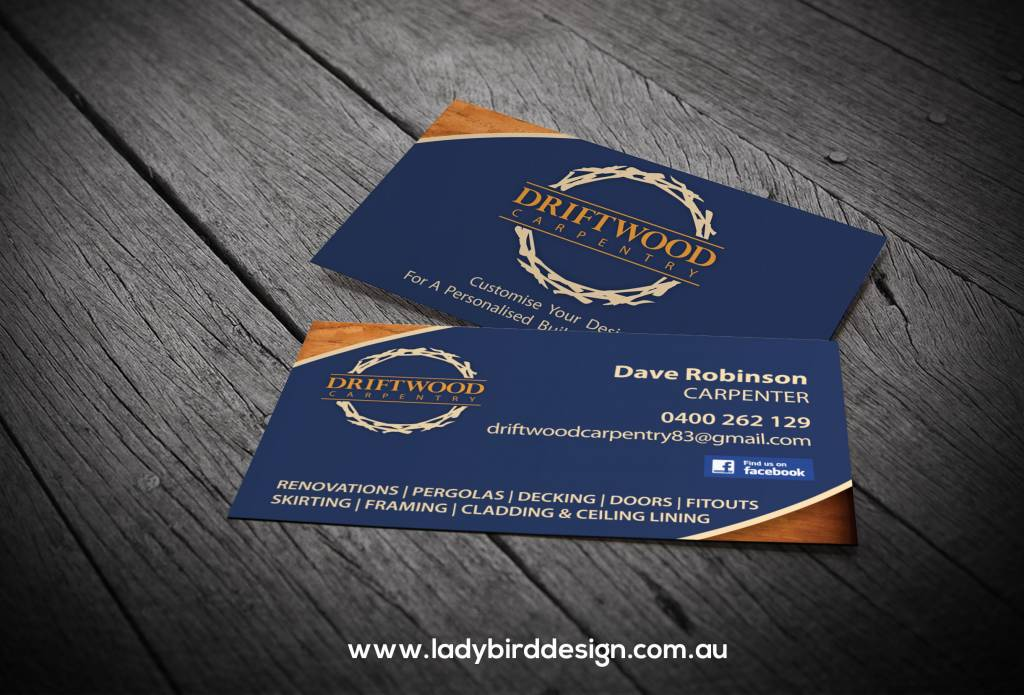 business card carpenter chippy builder graphic design perth