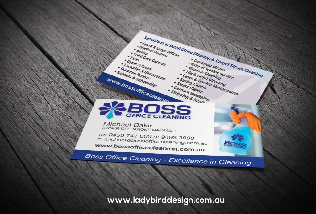 business card cleaner commercial office graphic design perth