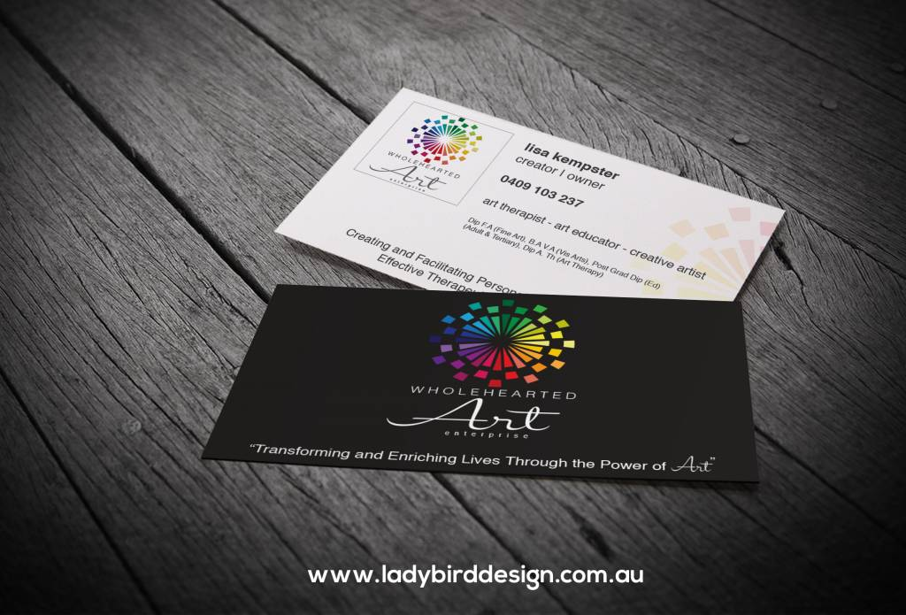 business card education health art graphic design perth