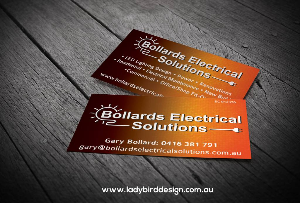 business card electrician renovation builder graphic design perth