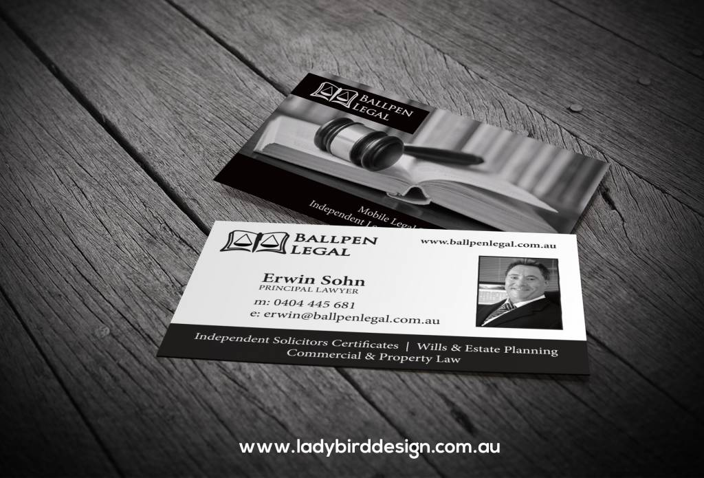 business card lawyer accountant legal graphic design perth
