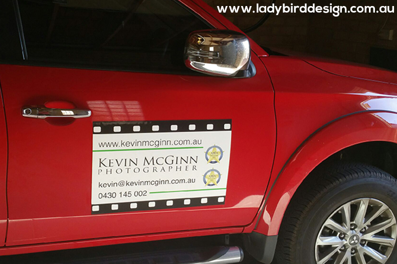 car magnet ute wedding photography events perth graphic design