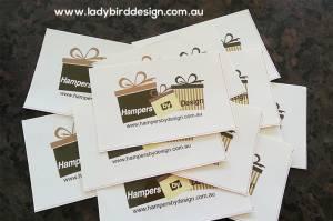 label sticker high quality vinyl gift hamper perth
