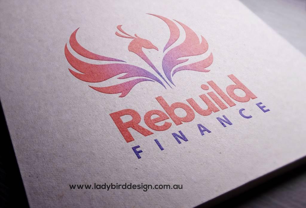 logo rebuild finance perth graphic design