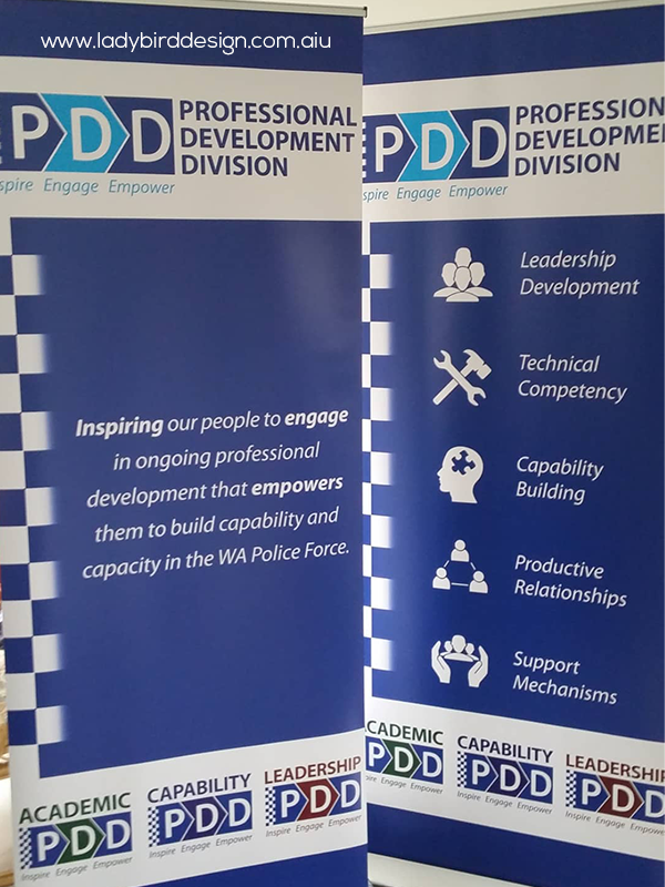 Banner Pull up retractable expo careers government police