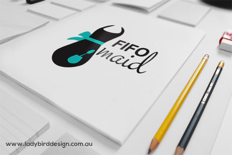 Logo branding graphic design fifo maid cleaner
