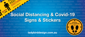 social distancing covid-19 sign stickers perth