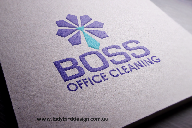 logo boss office cleaning perth graphic design