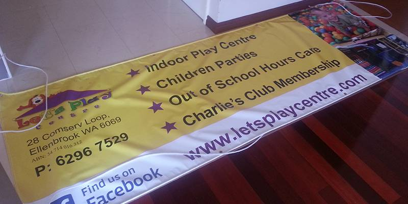 Banner vinyl ropes sport expo event markets club joondalup wanneroo
