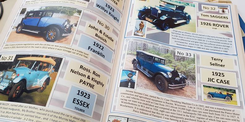 book manual workbook printing vintage car yearbook