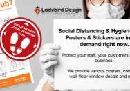 covid-19 safety social distancing signs stickers perth