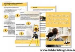 surveyor real estate development brochure perth graphic design